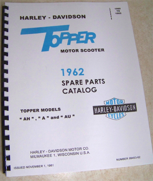 Harley Topper Spare parts catalog and riders manual